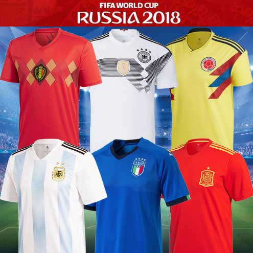 T-shirt 2018 Russia World Cup Soccer Jerseys 12 Country Spain Italy Germany Sweden Russia Argentina Custom Football Jersey Men's