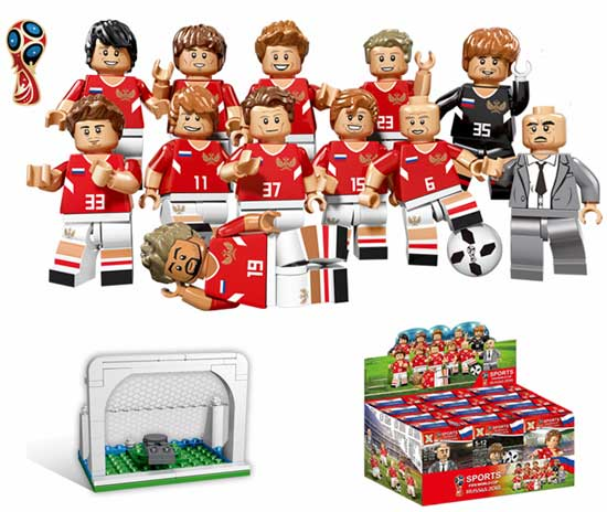 LEGO Qunlong World Cup Toys 12pcs Football Team Sports Figures Building Blocks Compatible Legoe Minecrafte City Figures Education Boy