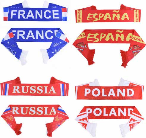 World soccer football Scarf World Team Scarf 32 Teams Flag Banner Football Team Sports Cheerleaders Scarves Souvenir