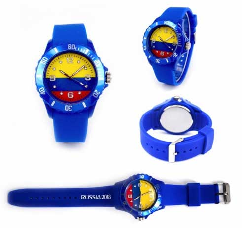 Unisex Fan Flag Columbia Wrist Watch Silicone Toy Gift for New World Cup Russia 2018