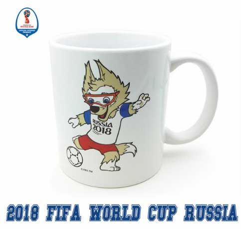 Official Authorized 2018 Football Russia Zabivaka Mascot Mug Souvenir Limited Edition Authentic Football Gif