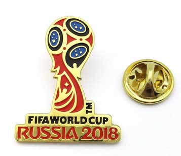 Officially authorized 2018 football Russia Hercules Cup LOGO color badge fan souvenir limited edition authentic football gift