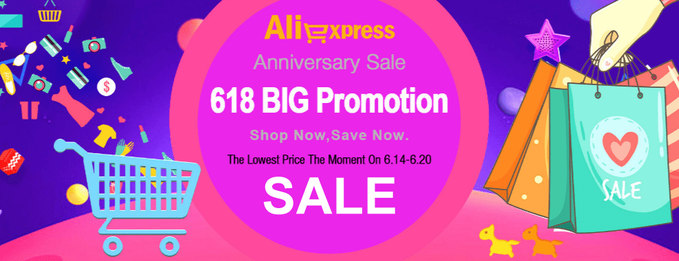 Summer sale 2018 / Mid-Year Sale 2018 Aliexpress