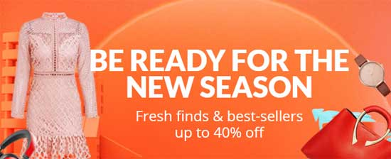 BE READY FOR THE NEW SEASON Fresh finds & best-sellers up to 40% off Fall Winter / Aliexpress 2018-2019