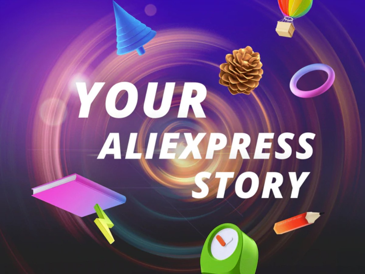 Your Aliexpress Story Time Machine. How to view the user's infographic.