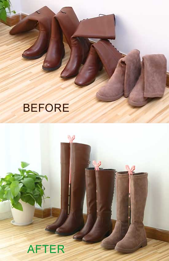 Folding Boot Shaper Stands Boots Knee High Shoes Clip Support Stand