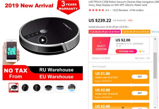 September sale on AliExpress Shop with select coupons