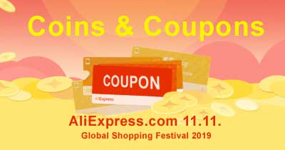 Coins & Coupons Sale AliExpress.com 11.11 2019