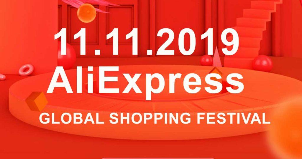 global shopping festival When does 11.11 2019 start AliExpress