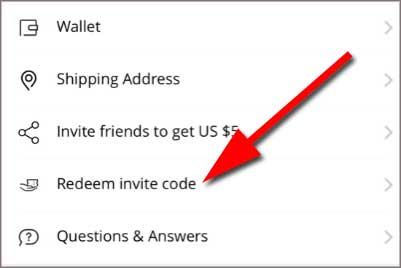 Redeem invite code