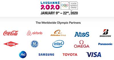 The Worldwide Olympic Partners AliExpress Alibaba Lausanne 2020