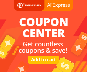 COUPON CENTER ALIEXPRESS 10 YEARS - soon will be update
