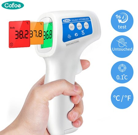 Cofoe Non-contact Body Thermometer Voorhoofd Digitale Infrarood Thermometer Draagbare Non-contact Termometro Baby/Adult Temperatuur