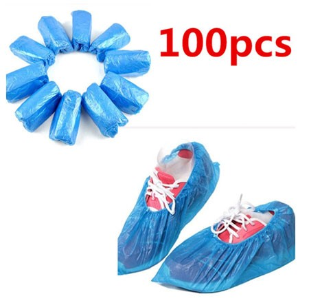 100Pcs Plastic Waterproof Disposable Shoe Covers Rainy Day Carpet Floor Protector Thick Cleaning Shoe Cover Blue Overshoes #20 AliExpress