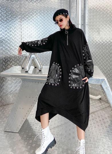 black casual dress fashion autumn winter Woman Fall Winter Dresses 2020 AliExpress