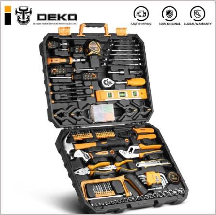 Hand Tool Set General Household Repair Hand Tool Kit with Plastic Toolbox