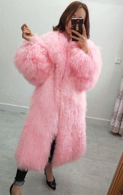 Mongolian Lamb Fur Coat