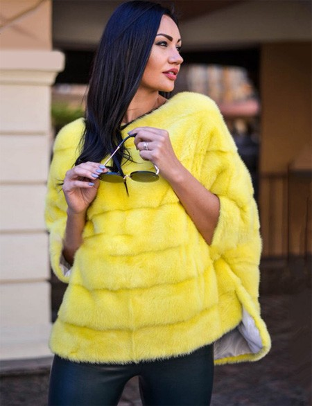 Natural fur poncho on AliExpress