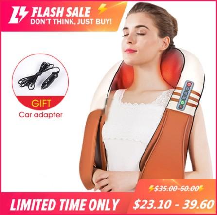 Shape Electrical Shiatsu Back Neck Shoulder Body Massager