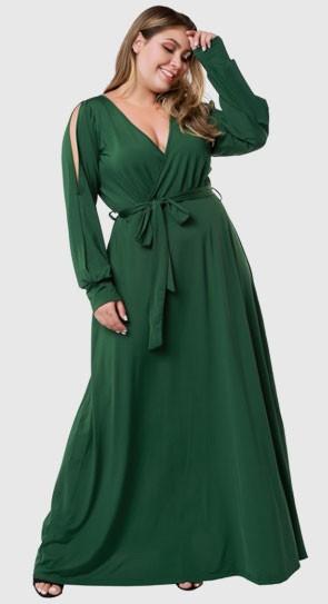 Elegant long dress of large Plus Size Fashion autumn winter 2020