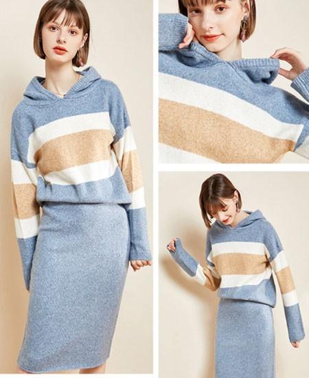 Women's Hoodies & Sweatshirts patchwork hoodie set fashion fall autumn winter