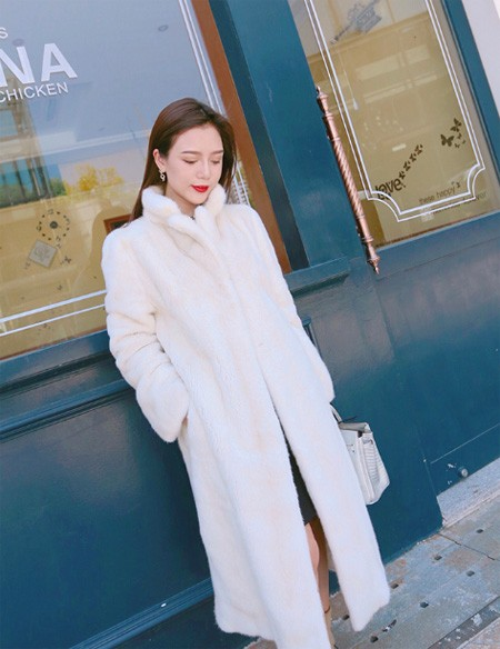 fur coat made of natural mink in retro style buy on Aliexpress