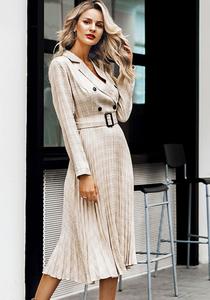 vintage work outfit dress