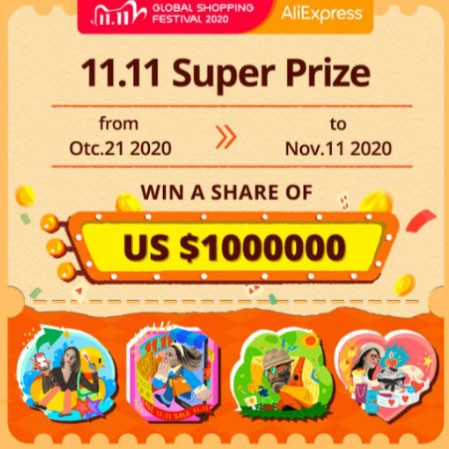 11.11 Super Prize on AliExpress Sale