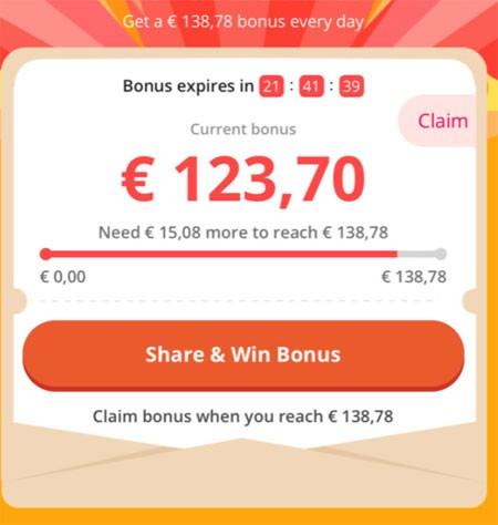 160 euros Bonus Buddies 11.11 AliExpress