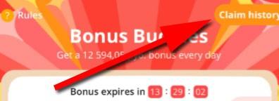 Claim History AliExpress Bonus Buddies 11.11