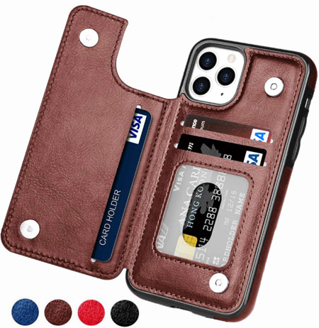 Flip Leather Case For iPhone 12