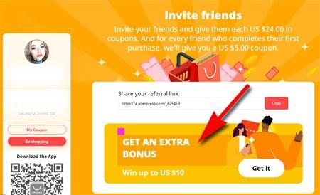 Get an extra bonus - Win up to US $10 - AliExpress