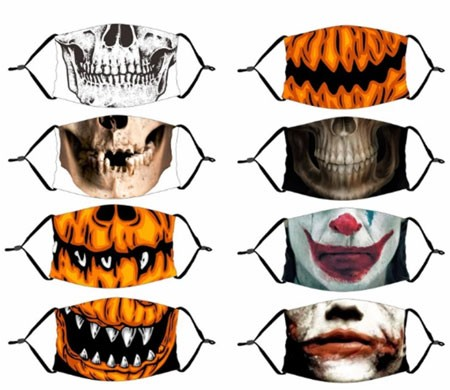 covid friendly halloween costumes Halloween Decor Luminous Party Mask Dustproof
