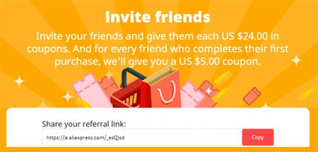 You can also use the Invite Friends page in your browser.