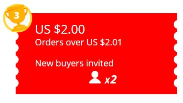 New buyers invited US $2 AliExpress Coupons EXTRA BONUS