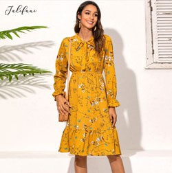 Womens Casual Autumn Dress Best Women's Clothing Deals Aliexpress 11.11 sale