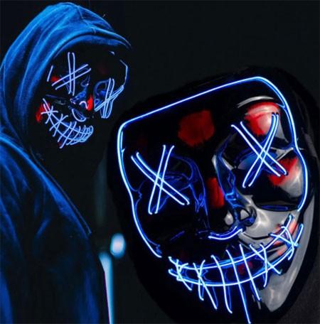 Halloween horrible glowing mask