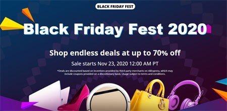 Black Friday Fest 2020 AliExpress Chinese Big Sale