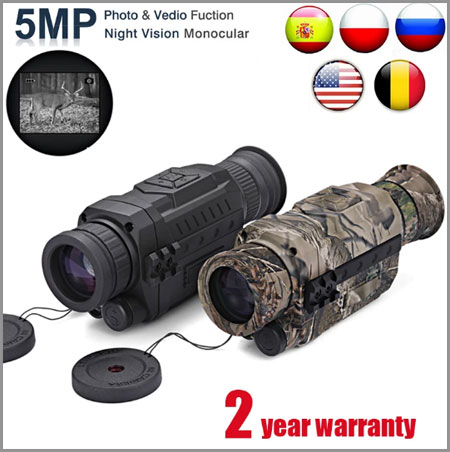 WG540 Infrared Digital Night Vision Monoculars with 8G TF card full dark 5X40 200M range Hunting Monocular Night Vision Optics Best Aliexpress 11.11 deals 2020 fast delivery