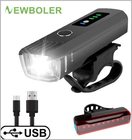 Smart Induction Bicycle Front Light Set USB Rechargeable Rear Light LED Headlight Bike Lamp Cycling FlashLight For Bike Aliexpress 11.11