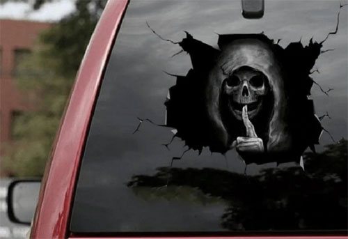 Very scary sticker