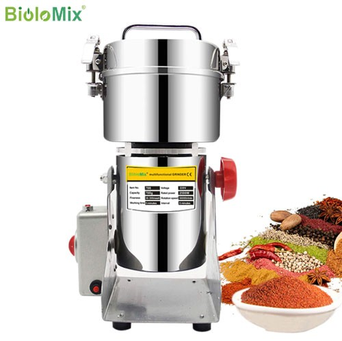 Electric grinder for dry foods, grains, coffee, medicines and spices Genius Kitchen Products